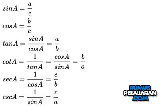 Rumus Fungsi Trigonometri Matematika