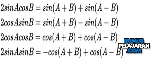 Rumus Perkalian Trigonometri Matematika