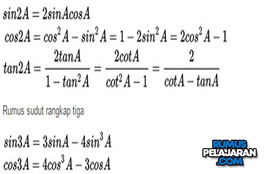 Rumus Sudut Rangkap Dua dan Tiga Trigonometri