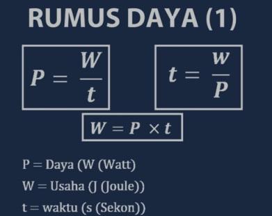 Rumus Daya