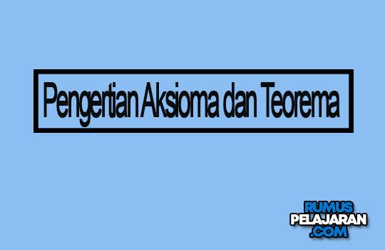 Materi Aksioma Teorema Definisi Syarat Macam Contoh
