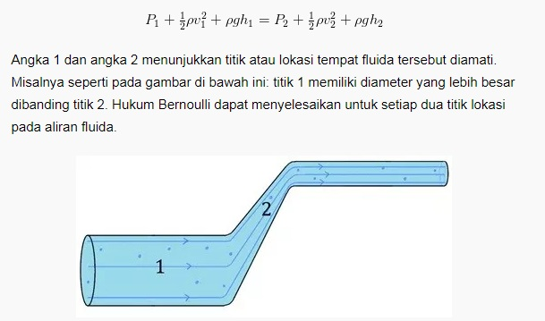 Persamaan Hukum Bernoulin
