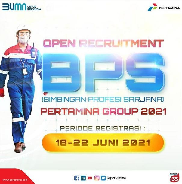 Rekrutmen BPS Pertamina Group 2021